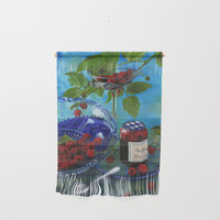 Still-life with raspberries Wall Hanging by savousepate