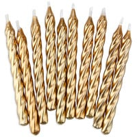 Gold Twist Birthday Candles