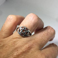 Ancient Wicca Pentacle Star Ring