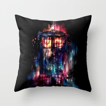 All of Time and Space Throw Pillow by Alice X. Zhang