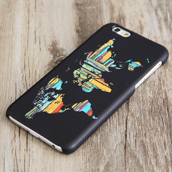 Black World Map Phone iPhone 6 Case,iPhone 6 Plus Case,iPhone 5s Case,iPhone 5C Case,4/4s Case,Samsung Galaxy S5/S4/S3/Note 3/Note 2 Case