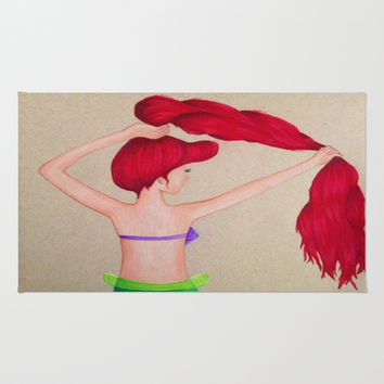 The Little Mermaid Area & Throw Rug by Sierra Christy Art | Society6