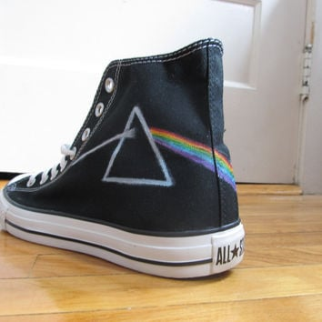 Pink Floyd Dark Side of The Moon High Top Converse