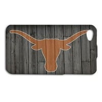 Texas Longhorns Football Custom Case iPhone Wood Cover Baseketball Baseball Cool