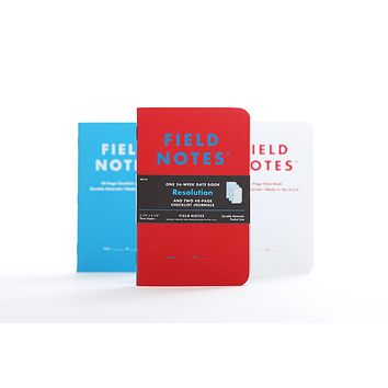 FIELD NOTES RESOLUTION CHECKLIST & DATE BOOKS