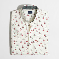 Short Sleeve Printed Washed Shirt : Shirts | J.Crew Factory