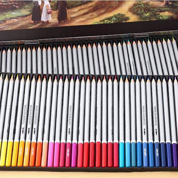 302-Effective 36 color /48 color / water soluble iron boxed color lead art drawing color pencil crayons / graffiti Secret Garden