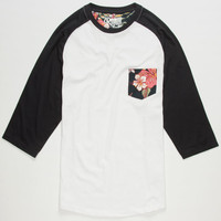 Retrofit Tropicali Mens Baseball Tee White  In Sizes