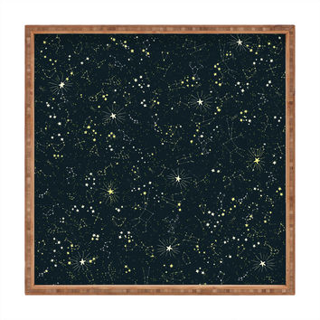 Joy Laforme Constellations In Midnight Blue Square Tray