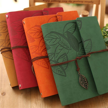 8 Inch PU Leather Kraft Paper Photo Albums DIY Vintage Antique Spiral for Baby Scrapbooking Home Decor Keep Memories