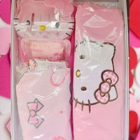 Valentine's Mother's Day 5 pcs Gift Set Hello Kitty Apron Oven Mitt Soap + Case Hand Towel Gift Message