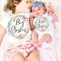 Big Sister Little Sister Set, Big Sister Little Sister Outfit, Big Sister Shirt, Little Sister Bodysuit, Sisters Set