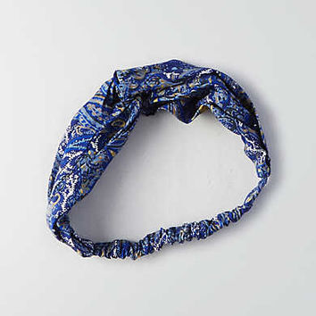 AEO Blue Paisley Headband, Multi