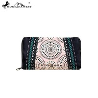 MW354-W010 Montana West Concho Collection Secretary Style Wallet
