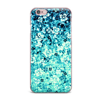 "Ebi Emporium ""Flower Power in Blue"" Teal Aqua iPhone Case"