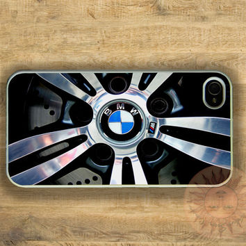 BMW Wheel -iPhone 5 case, iphone 4s case, iphone 4 case, Samsung GS3 case-Silicone Rubber or Hard Plastic Case, Phone cover