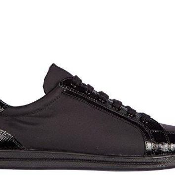 Prada Women's Shoes Trainers Sneakers Saffiano Black