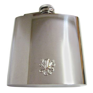 Silver Toned Octopus 6 Oz. Stainless Steel Flask