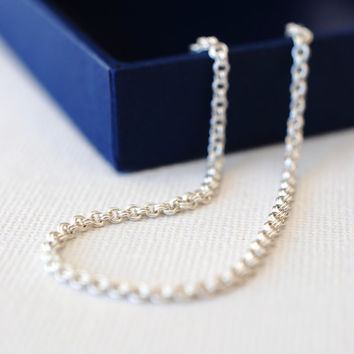 211 Sterling Silver Double Link Chainmaille Bracelet - dainty minimalist jewelry by lustre
