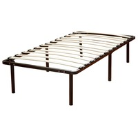 Twin XL Metal Platform Bed Frame With Wood Slats