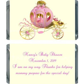18 Princess Baby Shower Miniature Chocolate Bar Wrappers