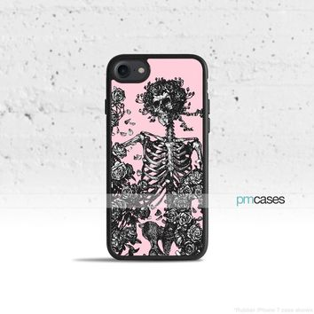 Skull & Roses Phone Case Cover for Apple iPhone iPod Samsung Galaxy S & Note