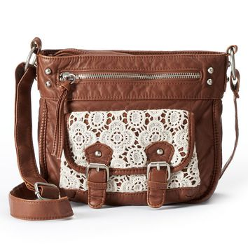 Mudd Marian Lace Crossbody Bag (Brown)
