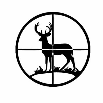Deer Hunter Crosshairs Vinyl Decal Sticker Car Truck Window Wall Bumper