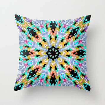 Kissed By Tie-Dye Throw Pillow by Bunhugger Design