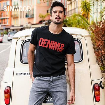 Summer Casual T-Shirts Men Letter Print O-neck Short Sleeve Fashion Tops Slim Fit Tees