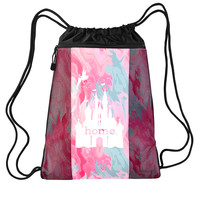 Castle Is My Home Nylon Cinch Backpack