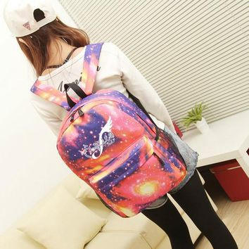 Anime sora no otoshimono Cosplay Student campus casual men and women backpack large capacity travel backpack