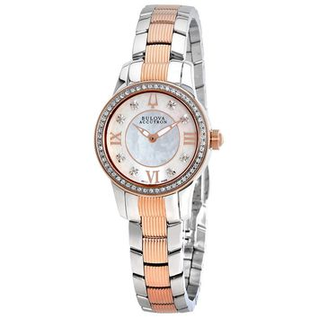 Bulova Accutron Masella White Mother of Pearl Dial Ladies Watch 65R145