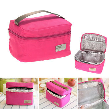 Kids Lunch Box Portable Insulated Canvas Lunch Bag Bento Lunch Box Lunch Bags and Cooler Bags Thermal Food Bento Bags Thermos