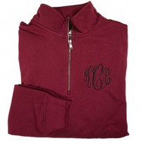 Monogram Maroon Pullover from HandPicked - $40.00