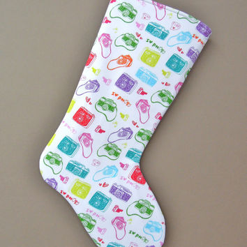 Photography Stocking, Photographer Christmas Stocking, Photography Christmas Stocking, I love Photography, Christmas Stocking