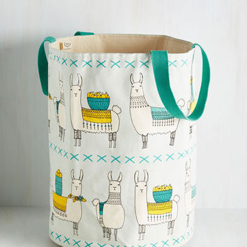 Llama, I'm Coming Home Hamper | Mod Retro Vintage Decor Accessories | ModCloth.com