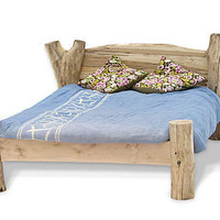 Rustic Driftwood Bed