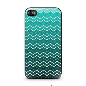 OMBRE TEAL CHEVRON Pattern iPhone 4 / 4S Case Cover