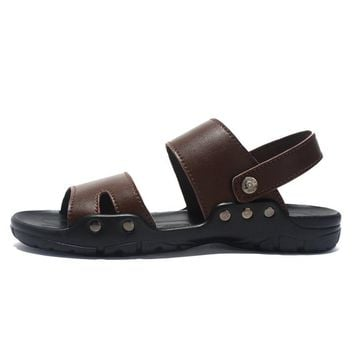 Large Size Men Adjustable Heel Strap Soft Water Beach Sandal