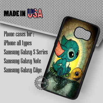 Turtle Art Lilo and Stitch- Samsung Galaxy S7 S6 S5 Note 5 Cases & Covers