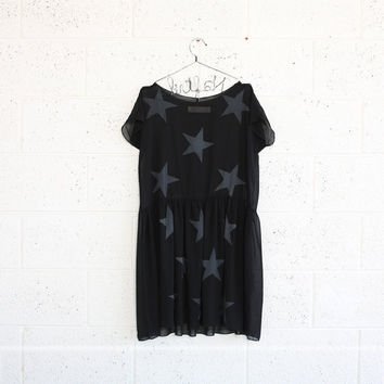 Star Party Dress - Black