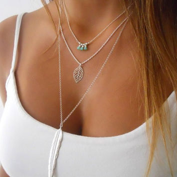 Pendant Chain Statement Necklace