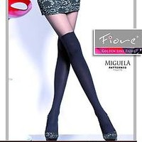 Mock Suspender Stockings Tights Imitation Hold-ups 40 Denier Miguela by Fiore