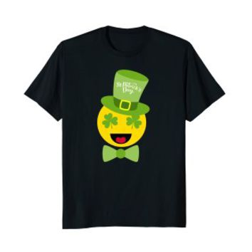 Midnight Sun St. Patrick's Day t-shirt Emoji smiley tshirt