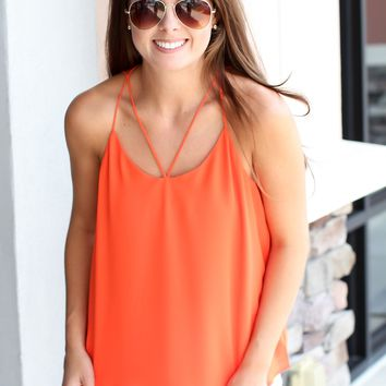 Come On Over Tank Top - Orange