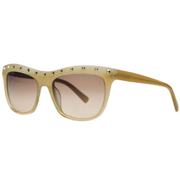 Valentino Striped Beige Wayfarer Sunglasses