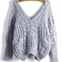 Michelle Batwing Cropped Knit Sweater