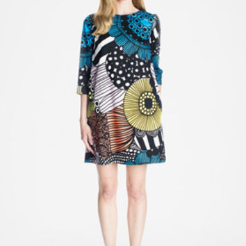 Apparel: Marimekko Biak dress in white, yellow, blue | Marimekko Store
