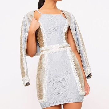 Embellished bodycon women dress